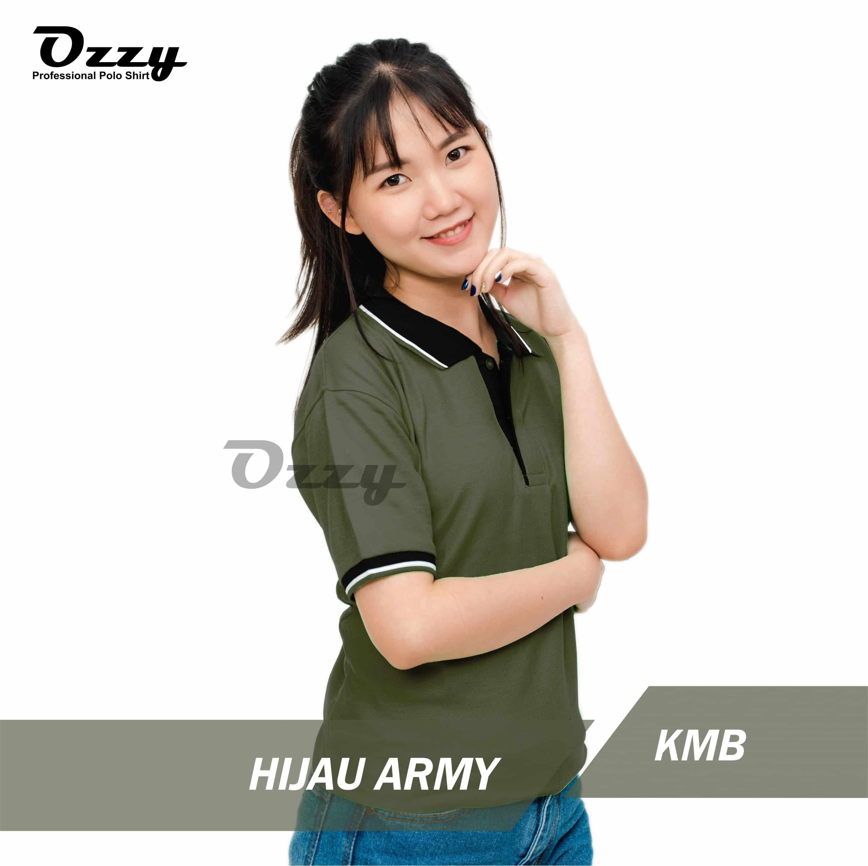 Kaos Polo Hijau Army